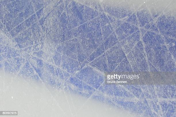 The ice surface during game 1 of the 2008 NHL conference quarterfinal series between the New York Rangers and the New Jersey Devils on April 9 2008...