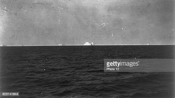 The iceberg that sank the White Star Line's Olympicclass RMS Titanic which struck it on 12 April 1912 on her maiden voyage from Liverpool to New York...