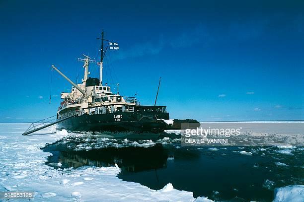 The icebreaker the Sampo Kemi Lapland Finland