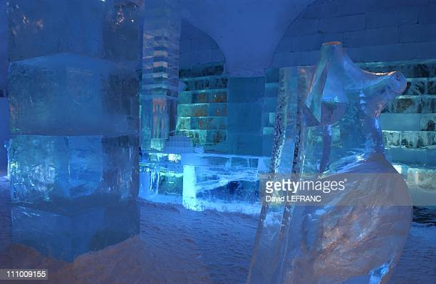 The Icehotel is situated 200km inside the Arctic Circle offers 60 rooms and receives 14000 guests in a season Absolute Icebar at night Picture taken...