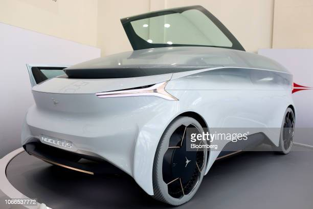 The Icona Nucleus concept vehicle is displayed during AutoMobility LA ahead of the Los Angeles Auto Show in Los Angeles, California, U.S., on...