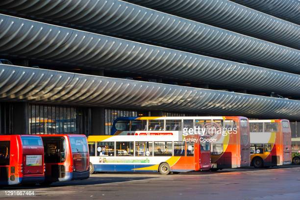 the iconic 1960's concrete preston bus station that is threatened to be demolished by the council. when completed, it was the largest in europe. - 1960 1969 stock pictures, royalty-free photos & images