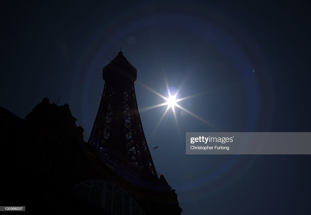 The iconic Blackpool Tower stands in the sunshine after it was announced that a refuribishment grant is to be axed by the government on May 24, 2010 in Blackpool, England. Chancellor George Osborne has announced that Blackpool Tower's 8 million GBP refurbishment payout is to be axed to help cut the UK�s 156 billion GBP budget deficit.