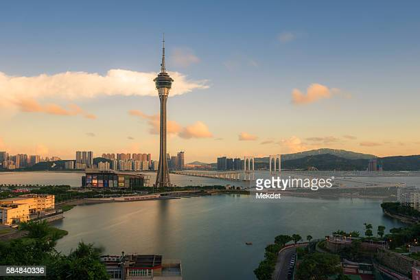 The Iconic Macau Tower in the Evening time