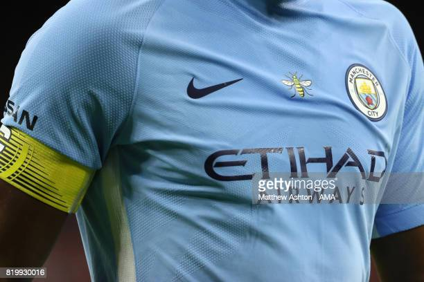 20 The iconic Manchester bee on a Machester City shirt in respect of the attack in Manchester on the shirt of Vincent Kompany of Manchester City...