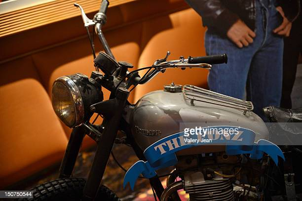 The iconic motorcycle from 'Happy Days' is on display as Henry Winkler meets and greets fans at Seminole Casino Coconut Creek on August 25 2012 in...