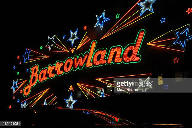 The iconic neon facade of Glasgow Barrowlands concert venue on September 29 2013 in Glasgow Scotland