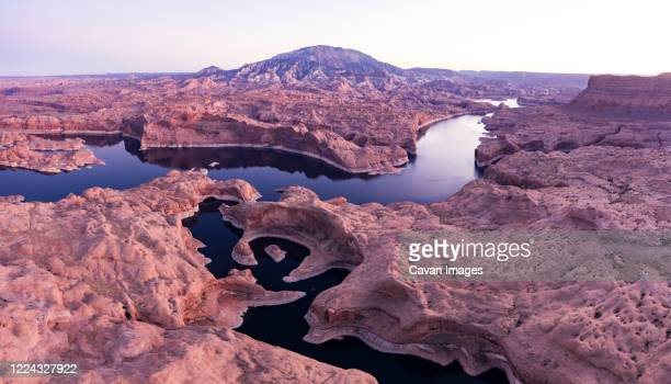 the iconic reflection canyon in utah's escalante grand staircase - volcanic terrain stock pictures, royalty-free photos & images