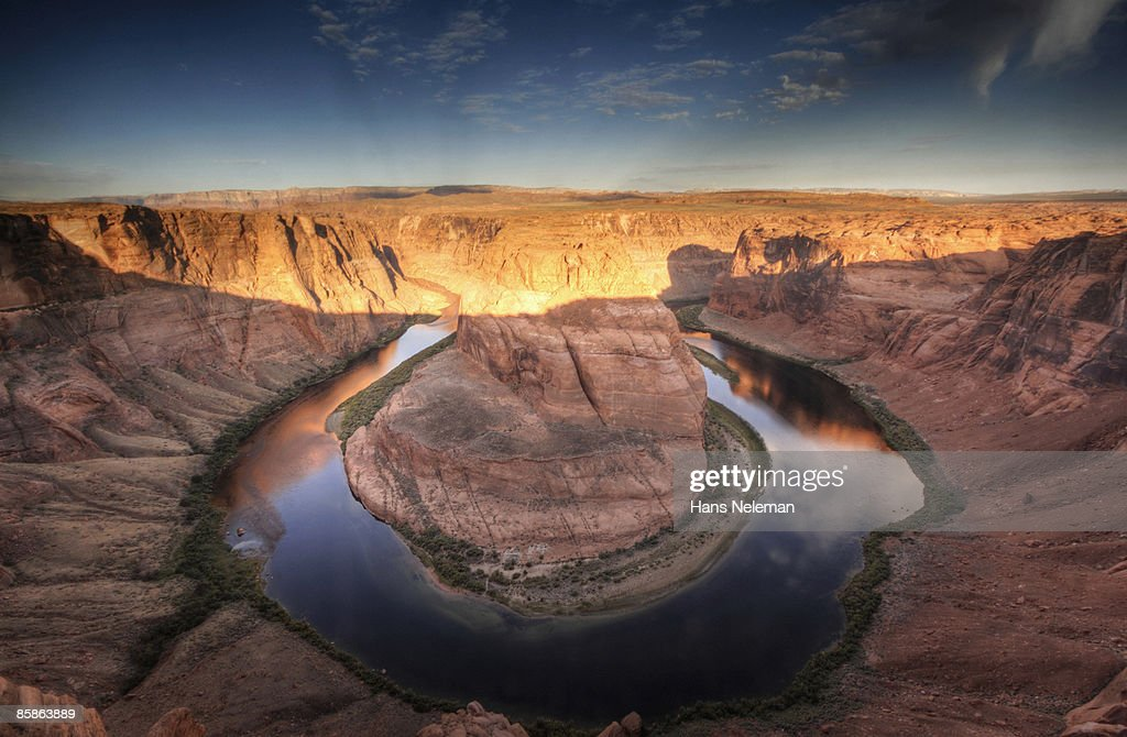 The iconic view of Horseshoe Bend. : Stock-Foto