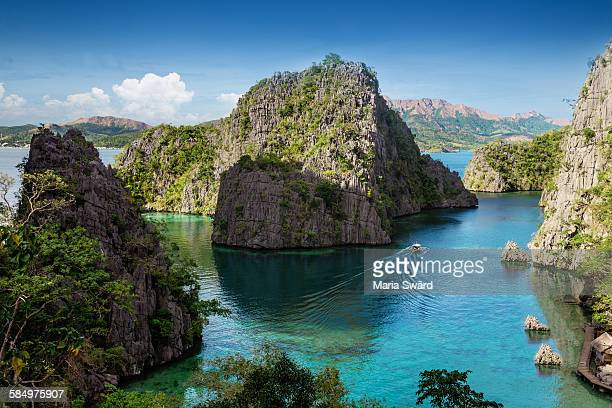 The iconic view over Coron island