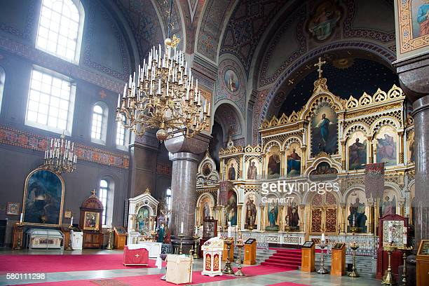The Iconostasis at the Uspenski Cathedral in Helsinki, Finland.