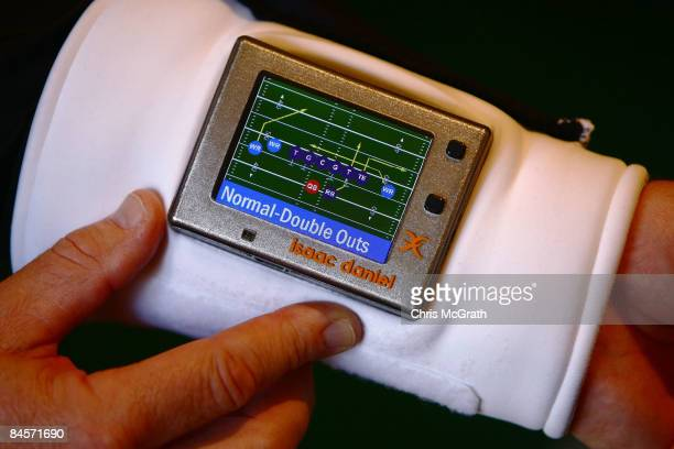 The ID Coach Wristband is demonstrated at the launch of the Isaac Daniel, ID Coach at the Sheraton Riverwalk on January 31, 2009 in Tampa, Florida....
