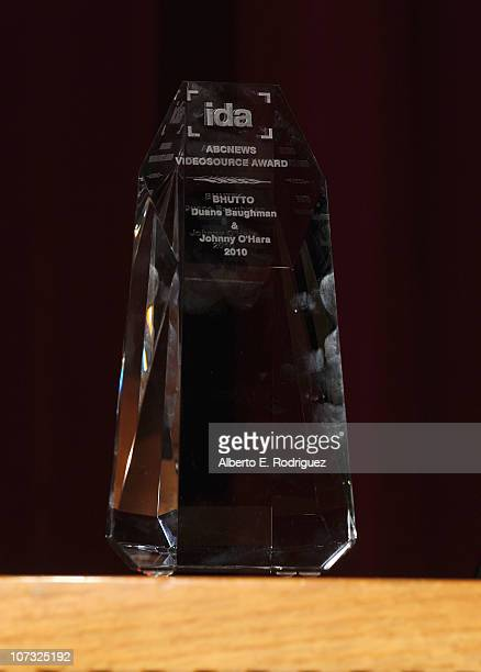 The IDA award at the International Documentary Association's 26th annual awards ceremony at the Directors Guild Of America on December 3 2010 in Los...