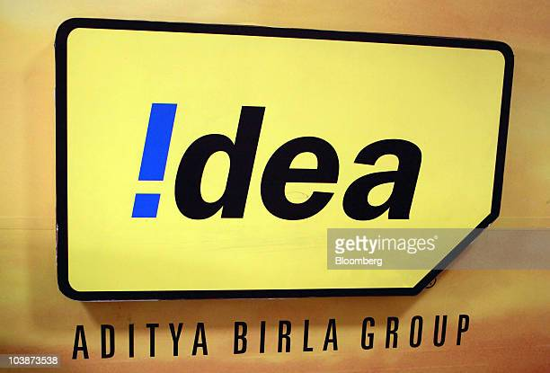 The Idea Cellular Ltd Logo Is Displayed At A Company Store In New Delhi India On