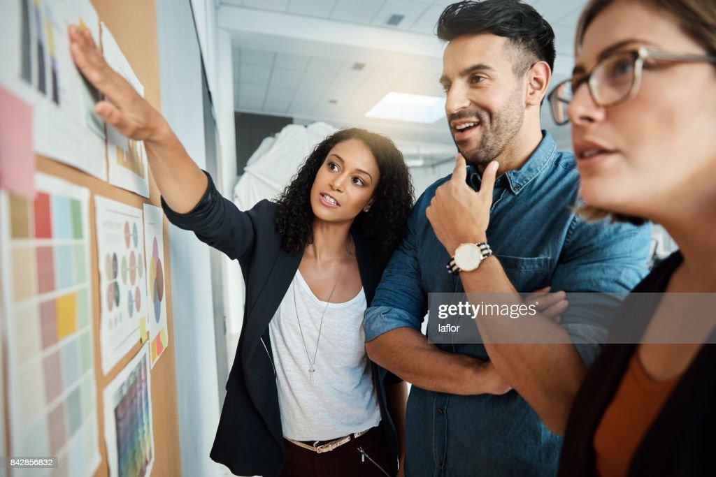 The idea driven team : Stock Photo