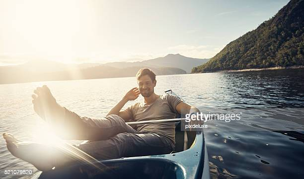 the ideal way to relax - small boat stock pictures, royalty-free photos & images