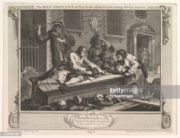 The Idle 'Prentice at Play in the Church Yard September 30 1747 Artist William Hogarth