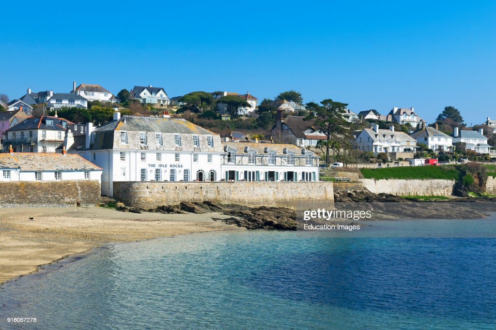 The Idle Rocks Hotel And Homes Overlooking Bay At St Mawes In Cornwall