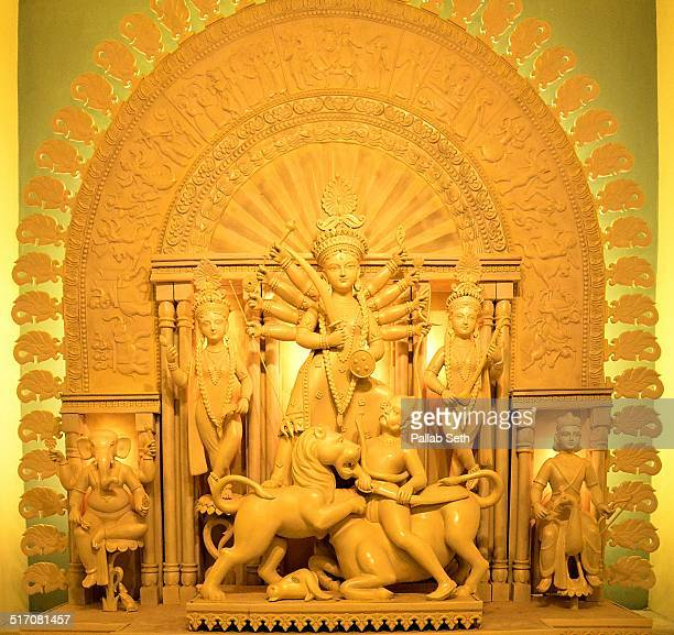 The idol of Goddess Durga with her four children