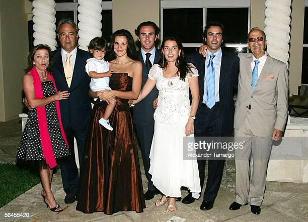 The Iglesias family Mamen, Carlos, Nicolo, Alessandra, Jorge, Marta, Carlos, Dr. Julio Iglesias Puga pose at Carlos Iglesias' 60th birthday...