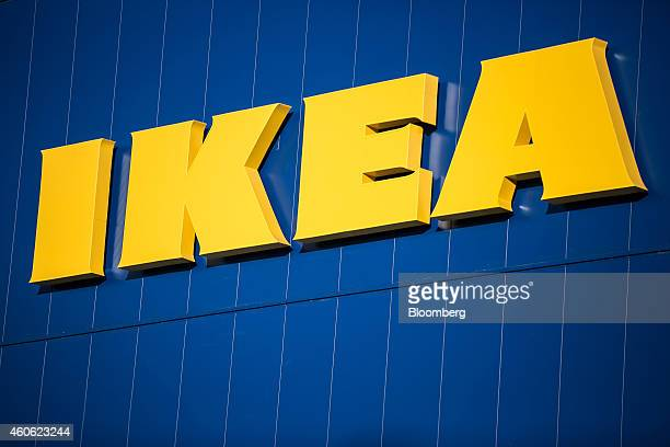 The Ikea AB logo is displayed atop the company's store in Gwangmyeong Gyeonggi province South Korea on Thursday Dec 18 2014 Ikea the world's largest...