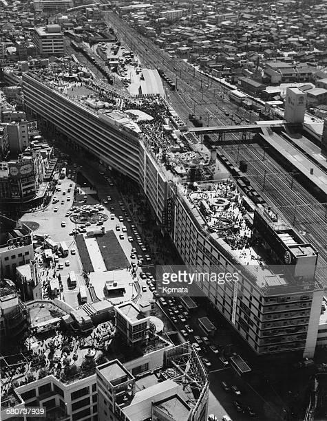 The Ikebukuro Parco shopping centre next to Ikebukuro Station in Ikebukuro Toshima Tokyo Japan circa 1966