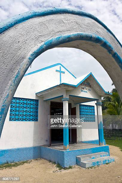 the ile a vache, methodist church - vache stock photos and pictures