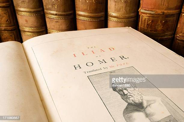 the iliad - homer - classical style stock pictures, royalty-free photos & images