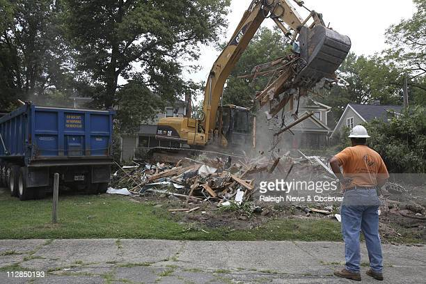 The illfamed Duke Lacrosse House in Durham North Carolina is on its way to a landfill on Monday July 12 2010 The house was the site for a March 2006...