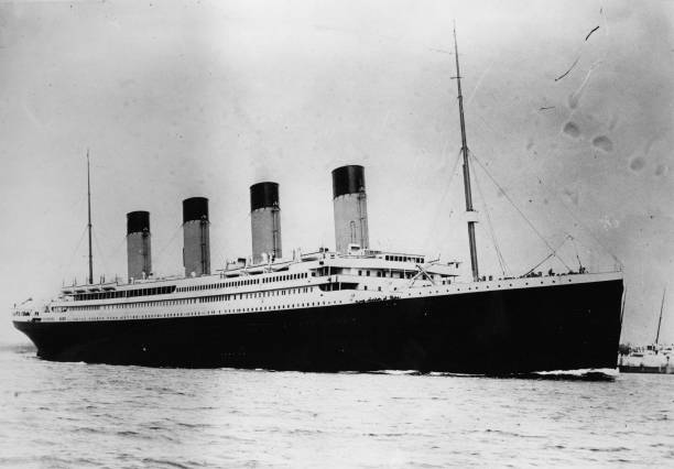 The ill-fated White Star liner RMS Titanic, which struck...