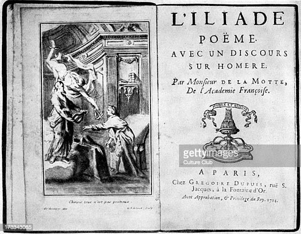 The Illiad by Homer With Title page illustration by de la Motte