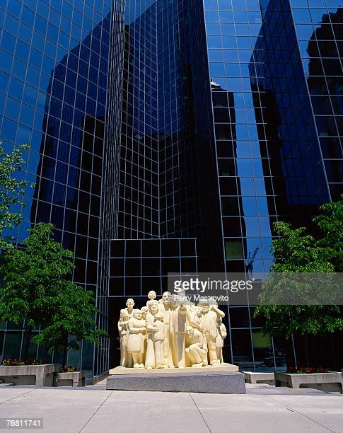 The Illuminated Crowd and BNP Tower, Montreal, Quebec, Canada