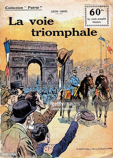 The illustrated cover of an issue from Collection Patrie a French publication on the theme of World War I published in 154 weekly installments...