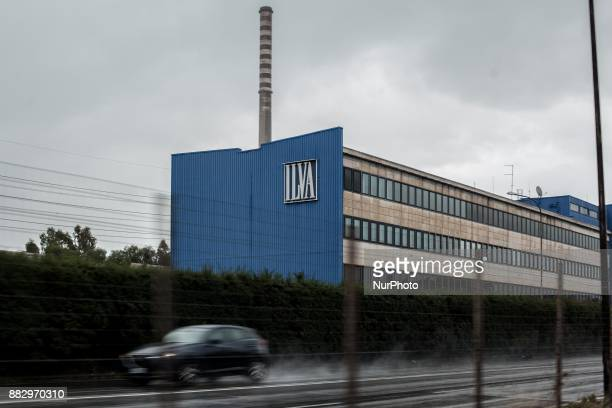 The Ilva steel planet in Taranto Italy on November 29 2017 The schools closed for two days in the neighborhood closest to the steelworks Ilva because...