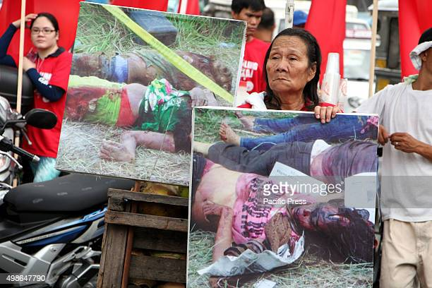 The images of Ampatuan massacre was brought during the commemoration of the 6th Anniversary of Ampatuan Massacre Nov 23 2009 in Maguindanao They are...