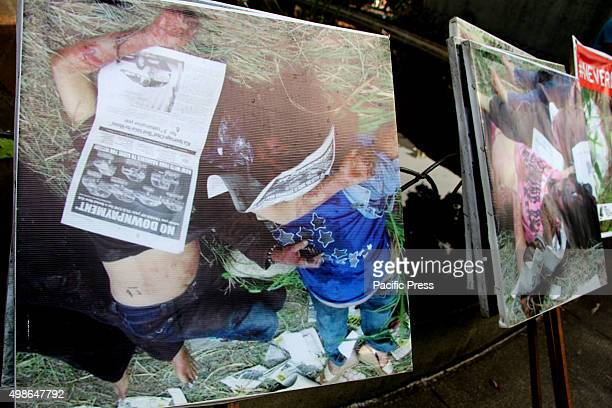 The images of Ampatuan massacre was brought during the commemoration the 6th Anniversary of Ampatuan Massacre Nov 23 2009 in Maguindanao They are...