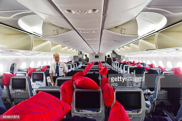 The images shows the Boeing 7879 Dreamliner inside at Chengdu Shuangliu International Airport on May 26 2016 in Chengdu Sichuan Province of China...