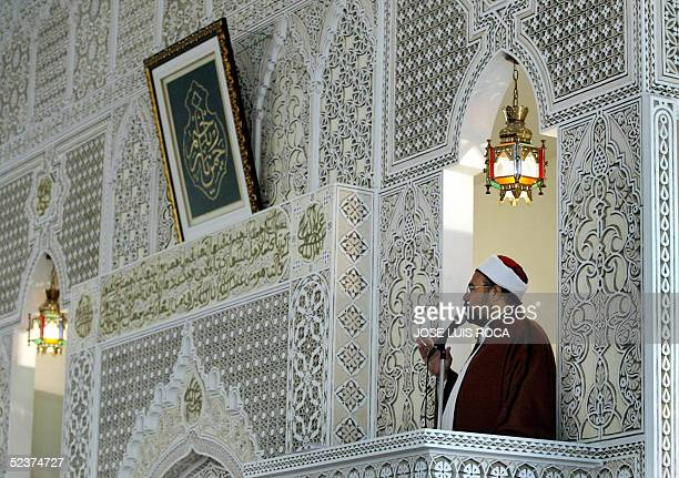 The imam of Fuengirola's mosque Mohamed Kamal Mustafa prays 11 March 2005 in memory of the 191 people killed one year ago in the 11 March 2004 train...