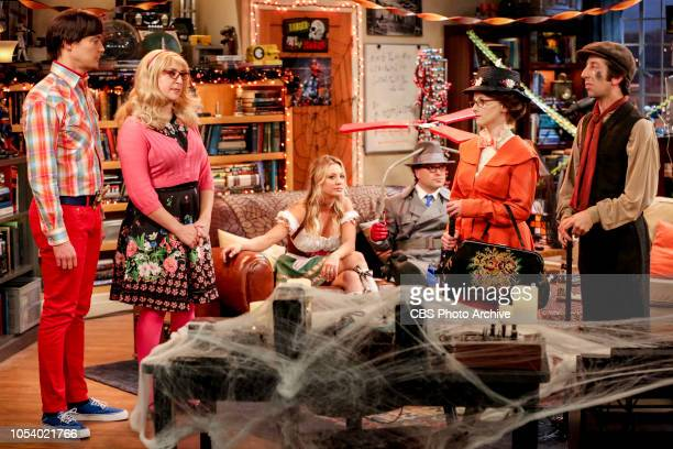 'The Imitation Perturbation' Pictured Sheldon Cooper Amy Farrah Fowler Penny Leonard Hofstadter Bernadette and Howard Wolowitz When Wolowitz dresses...