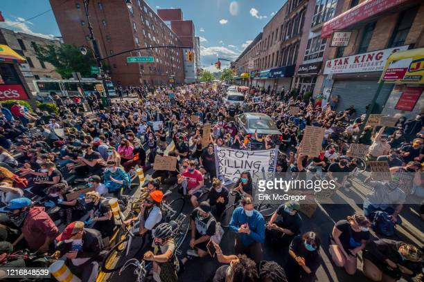 The immense crowd of protesters occupying Fulton Avenue Hundreds of protesters gathered flooded the streets of Crown Heights in Brooklyn to demand...