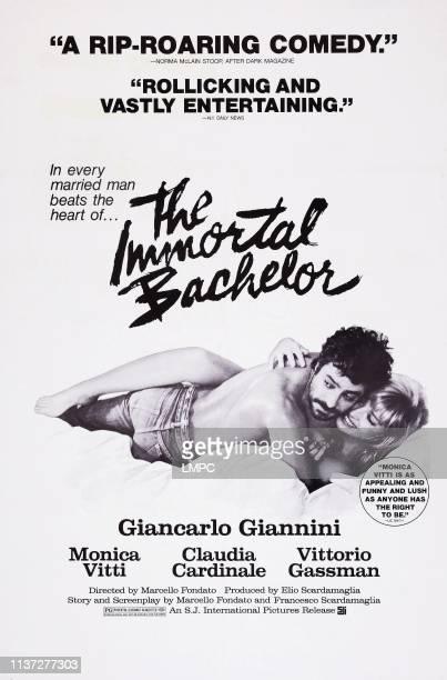 The Immortal Bachelor poster US poster art from left Giancarlo Giannini Monica Vitti 1975