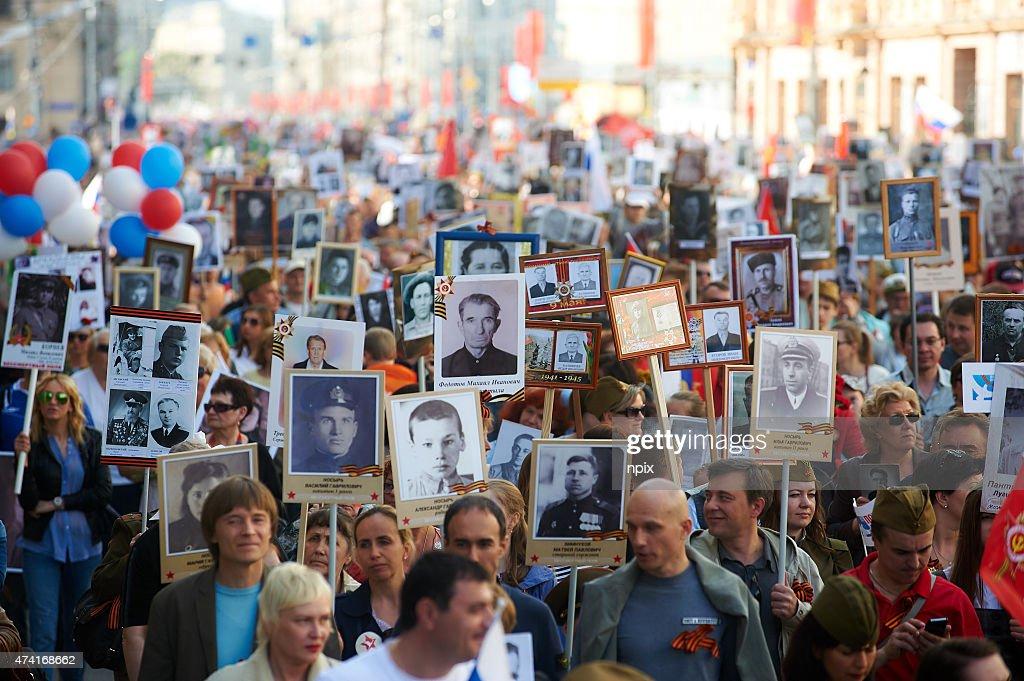 The immortal Regiment march : Stock Photo