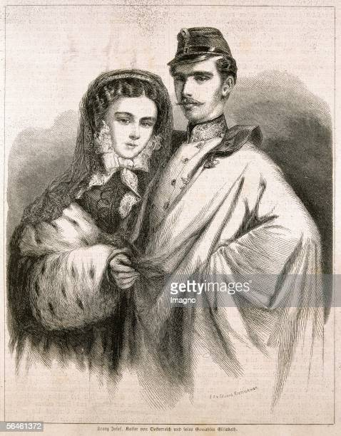 The Imperial couple Emperor Franz Joseph and Empress Elisabeth travelling Italy Supplement to 'Illustrirten Zeitung' No 705 311857 News paper...