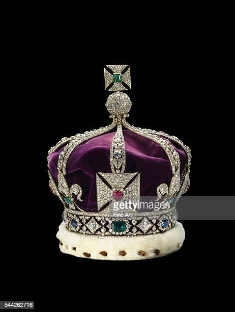 The Imperial Crown of India housed with the Crown Jewels of the United Kingdom Created in 1911 for George V's trip to the 'Court of Delhi' Gold with...