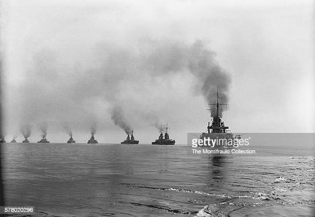 The Imperial German Navy fleet in convoy at sea during the 1st World War The German navy grew to become one of the greatest maritime forces in the...