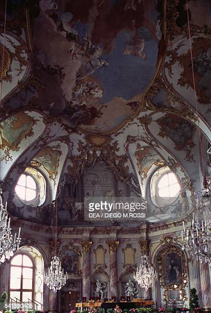 The Imperial hall Wurzburg residence residence of the Prince Bishops architect Balthasar Neumann Wurzburg Bavaria Germany