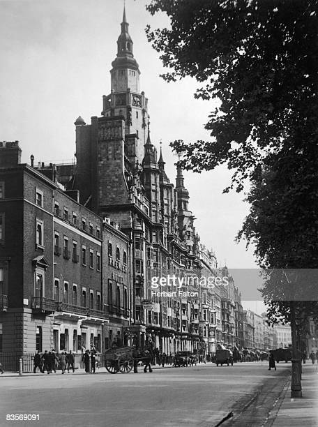 The Imperial Hotel in London's Russell Square with the Premier Hotel next door circa 1930