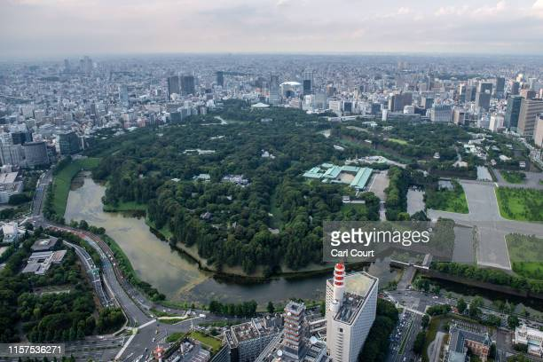 The Imperial Palace is pictured on July 24, 2019 in Tokyo, Japan.