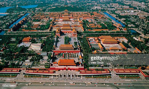 the imperial palace,high angle view,beijing china