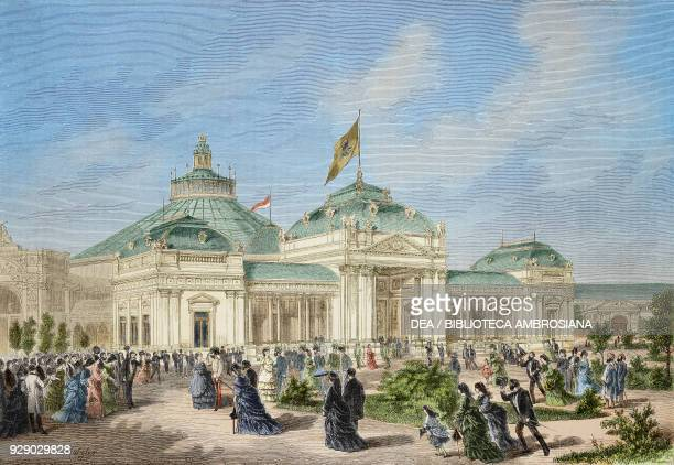 The imperial pavilion at the Vienna Universal Exhibition Austria illustration from Album della Esposizione Universale di Vienna No 4 1873 Digitally...